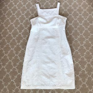 NWOT MSSP (Max studio) white lace dress size xs